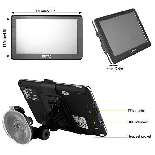 Navigazione GPS Yukiko Outad Schermo TFT LCD da 7 Pollici Scheda di Memoria da 8 GB