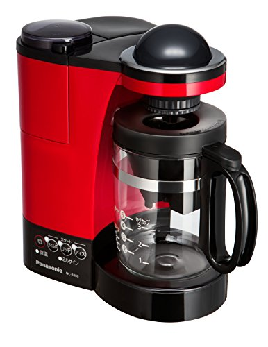 Panasonic With mill Water purification coffee maker NC-R400-R (Red) by Panasonic