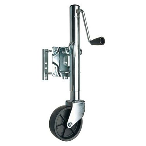 (REESE Towpower 74410 Trailer Jack, Heavy-Duty Swivel Mount, 6-Inch Wheel, Chrome)