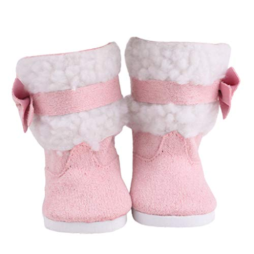 FTXJ Doll Shoes Winter Plush Snow Boots for American Girl Do