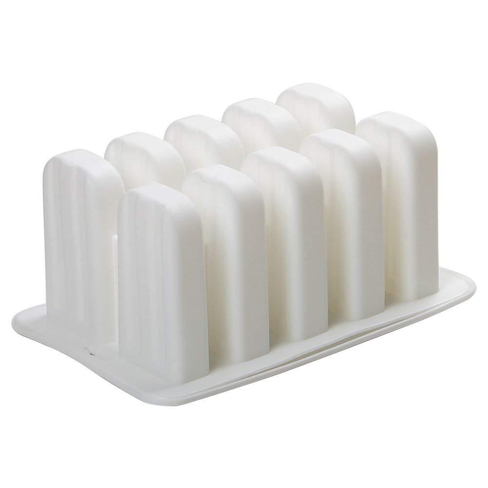 Molde de Silicona para Helados con 10 Compartimentos Faneli dise/ño de Helado