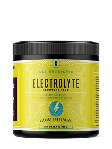 Electrolyte Powder, Lemonade Hydration Supplement: 90 Servings, Carb, Calorie & Sugar Free, Delicious Keto Replenishment Drink Mix. 6 Key Electrolytes – Magnesium, Potassium, Calcium & More.