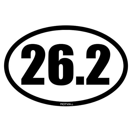 Oval 26.2 Marathon Runner (Motvia 26.2 Marathon Oval Car Magnet)