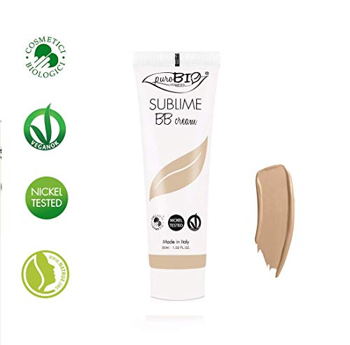 PuroBIO Certified Organic Long-Lasting Anti-Aging BB Cream Color 02 Medium - for All Skin Types.Contains Sage, Olive Oil, Apricot Oil, Shea Butter. ORGANIC. VEGAN. NICKEL TESTED. MADE IN ITALY 1 fl.oz (Best Bb Cream For Olive Skin)