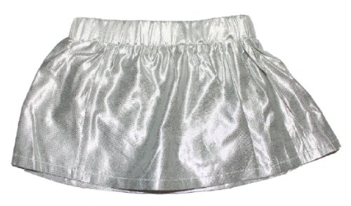 egg by suzan lazar Baby-girls Infant Metallic Skirt,Platinum,6-12 Months