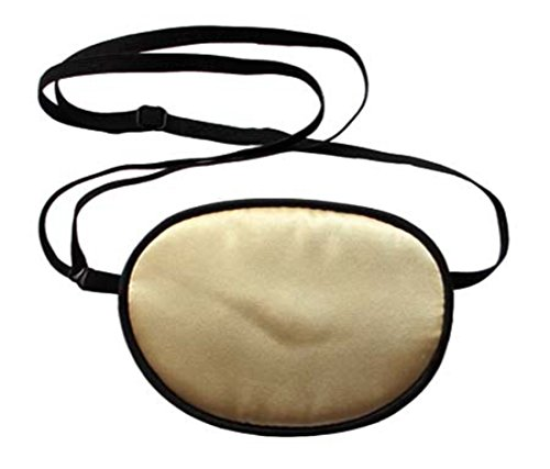 Linshing-Natural Silk Eye Patch for Adults' or Children's Amblyopia Strabismus Astigmatism Training Eye Mask (Adult, Champange) by lseyemask