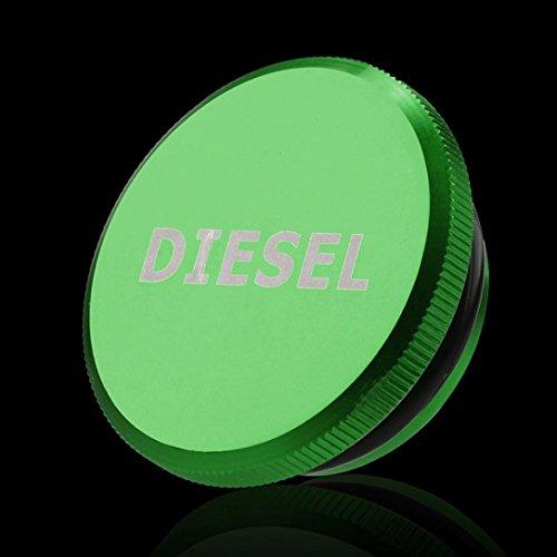 Ecosin New 2013-2017 For Dodge Ram Diesel Billet Aluminum Fuel Magnetic Truck Permanent Cap (Green)