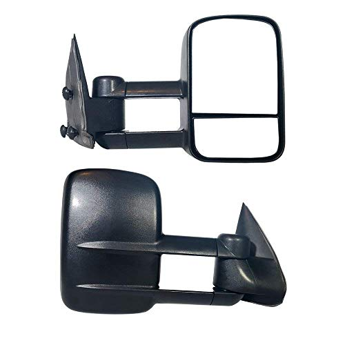 Make Auto Parts Manufacturing Passenger Side Textured Black Manual Operated Non-Heated Manual Folding w/o Signal Light Tow Mirror For Chevrolet Avalanche 1500 2002-2006 / GMC Sierra 1500 1999-2006