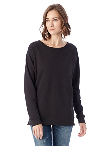 Alternative Women's Vintage French Terry Scrimmage Reversible Pullover, Black, (French Seals)