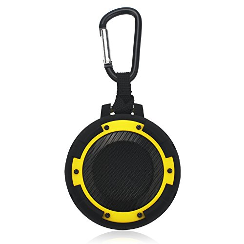 ZeroLemon ToughSound IPX8 Waterproof & Shockproof Portable Wireless Bluetooth 4.1 Speaker with Bicycle Bracket and Suction Cup for Shower, Road Trip, Pool, Beach, Home and Outdoor- Lemon Yellow