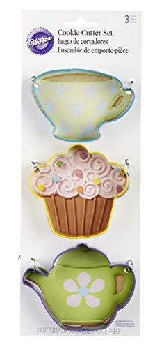 Wilton Tea Party Colored Metal Cutter Set, (Cup Cookie Cutter)