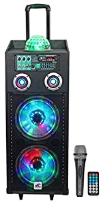 """NYC Acoustics N210AR Dual 10"""" 600w Rechargeable Powered Bluetooth Party Speaker by NYC ACOUSTICS"""