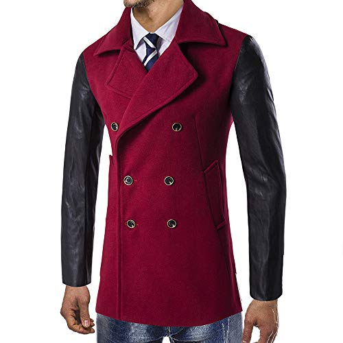 Long Rouge Manteau Uribaky Chaud Intelligent Homme Trench Outwear Hiver qgwU6BX