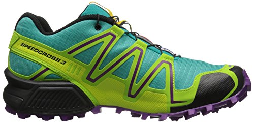SalomonSpeedcross 3 - Zapatillas de Running para Asfalto Mujer Azul - Teal Blue/Granny Green/Passion Purple