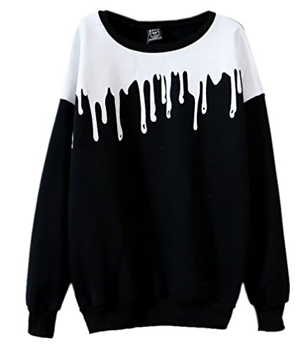 Long Sleeve Print Pullover - 1
