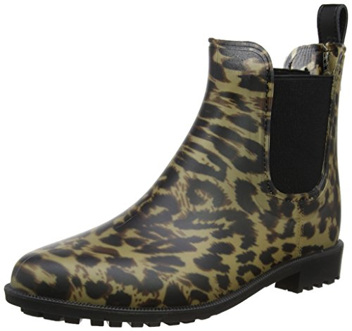 Dark Rockingham Joules Rubber Leopard Ankle Boot Women's Black Hwq7UZq8
