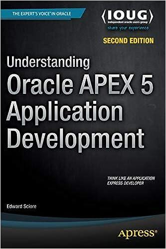 Understanding Oracle APEX 5 Application Development: 9781484209905