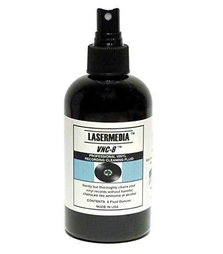 Lasermedia VNC-8 Professional Vinyl Record Cleaning Fluid 8 Oz Spray Bottle by TME