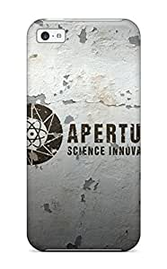 Hot Aperture Science Innovators Peeling Paint First Grade Tpu Phone Case For Iphone 5c Case Cover