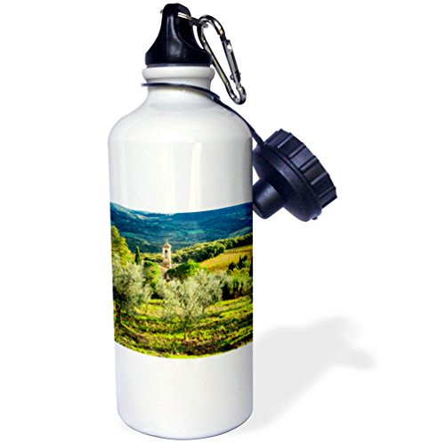 3dRose Danita Delimont - Italy - Italy, Tuscany, Pieve di Santa Maria Novella Near Radda in Chianti - 21 oz Sports Water Bottle (wb_277667_1) by 3dRose