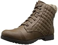 Qupid Women's Wyatte-47 Boot, Taupe, 7 M US
