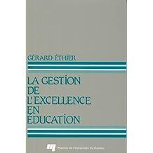 Gestion de l'excellence en éducation La