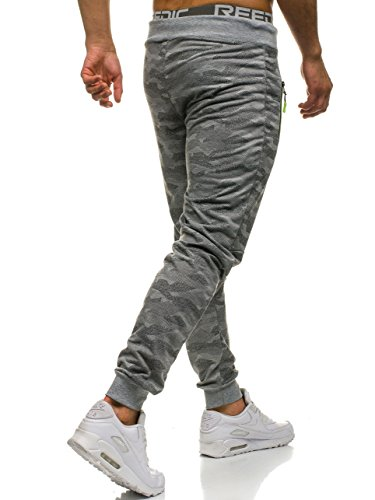 BOLF Motivo Mix Jogger Gris 6F6 Fitness Hombre hl8510 Deporte Pantalones Entrenamiento rxrqYC