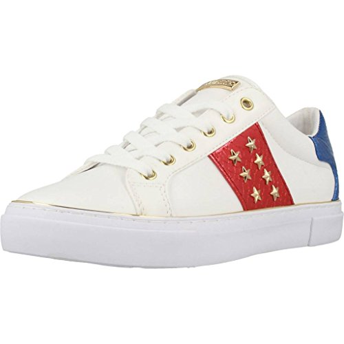 GUESS Calzado Deportivo Para Mujer, Color Blanco, Marca, Modelo Calzado Deportivo Para Mujer Gamer Blanco Blanco