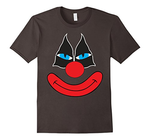 Men's Creepy Clown T Shirt Clown Emoji Face Halloween Costume Tee XL Asphalt (Funny But Cute Girl Halloween Costumes)