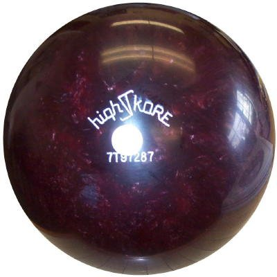 15-1/2 lb High Skore Burgundy Target Polyester Bowling - Columbia Shipping Free