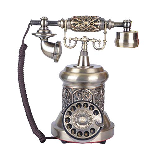 - XIANWEI Vintage Telephone Classic Desk Phone Family Antique Telephone Rotary Landline (Color : A)