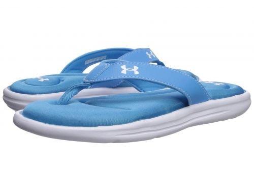 トラフ退屈先史時代のUnder Armour(アンダーアーマー) レディース 女性用 シューズ 靴 サンダル Marbella VI T - Canoe Blue/White 9 B - Medium [並行輸入品]