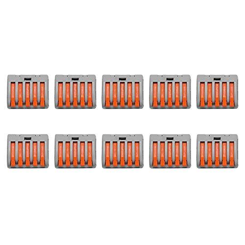 5 Garosa 10Pcs 2//3//5 Way Spring Lever Push Fit Reutilizable Conector de Cable Conector de Cable El/éctrico
