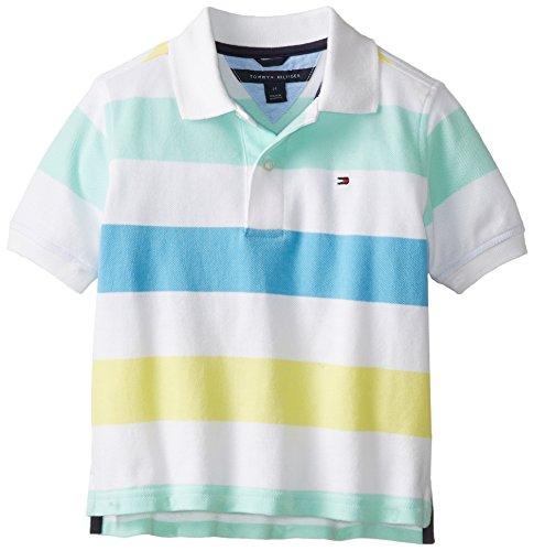 Tommy Hilfiger Little Boys' Short Sleeve Shawn Polo, Zen Blue, 3T