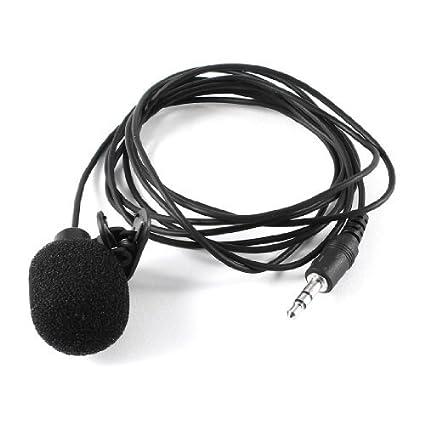 Amazon.com: eDealMax Negro 1.6M 3.5mm Cable Jack Cuello Micrófono Clip Para el ordenador portátil del cuaderno: Health & Personal Care