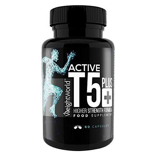High Strength Active T5 Plus – 60 Capsules – Natural Diet Nutrition Supplement with Green Tea, Vitamin B6, L-Tyrosine…