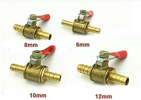 sourcingmap/® 1//4BSP 12mm Full Port Male Threaded Lever Handle Brass Ball Valve