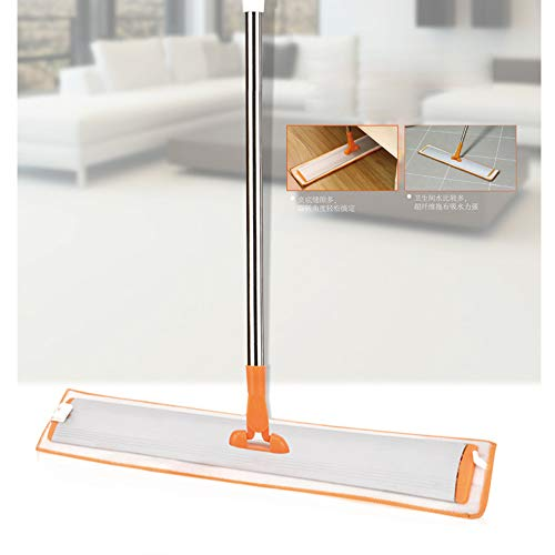 TQZY Professional Flat Floor mops, Upright 360 Degree Rotatable Mop Frame,Robust Stainless Handle,and Microfiber Cloth Pad for Home and Kitchen by TQZY (Image #6)
