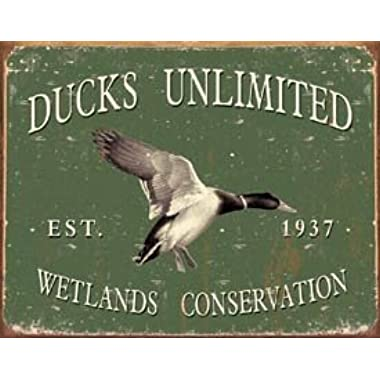 Ducks Unlimited - Since 1937 Metal Tin Sign 16 W x 12.5 H