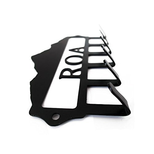 Personalized Mountain Key Hook (6 Hooks) - Handmade in America - Power Coated Steel with 20% Gloss Black Finish - Wall Mountable Key Rack - Organize Your Home & Car Keys in Style …