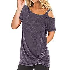 Women Fashion Short Sleeve Pure Color Top Fashion T Shirt Ladies Blouse PleasechecktheSize: S US: 6 UK: 10 EU: 36 Bust: 94cm/37.01'' Length: 70cm/27.56'' Size: M US: 8 UK: 12 EU: 38 Bust: 98cm/38.58'' Length: 71cm/27.95'' Size: L US: 10 UK: ...