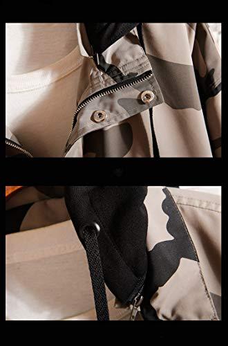 Camuffamento Camuffamento Camuffamento Casual Hhpcspc M M M M White Color con Cappuccio Khaki Casual Size Giacca Color Morbido da in Uomo aSqa8wxrz