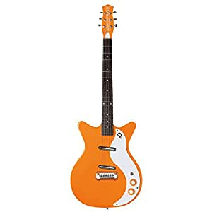 danelectro electric guitar 39 59m nos page style orange lipstick pickups musical