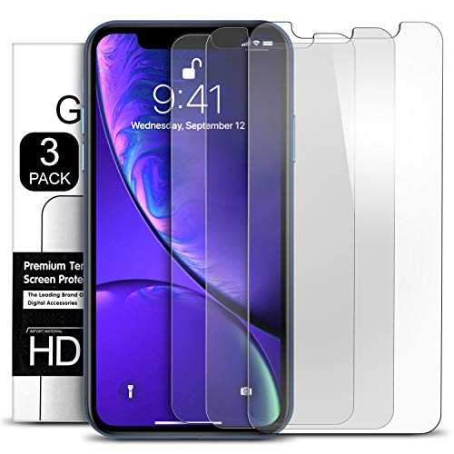 Eveshield Screen Protector for Apple iPhone XR (6.1) (3 Packs) 0.3mm iPhone XR Tempered Glass Screen Protector with HD Clarity Compatible with iPhone XR Screen and Case Friendly - Pack of 3