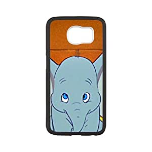 Cartoon Dumbo For Samsung Galaxy S6 White Cell Phone Case Cover 14WB1220576