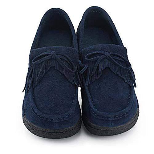 femmes talon Mocassins lacets à pour Plateforme Chaussures à Tenthree compensé q1ATRxRt