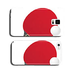 racket and ball for table tennis ping pong vector illustration cell phone cover case iPhone6 Plus