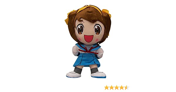 Great Eastern The Melancholy of Haruhi Suzumiya 8 Chan Plush with Yellow Bow Japan VideoGames GE-8993