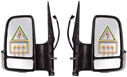 IMS auto parts Mercedes Sprinter 250 350 Side Mirror Power Heated Short Arm Right Passenger and Left Driver Side 2007 To 2016