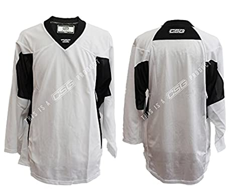 b46e4325774 Adult GOALIE Hockey Premium Practice Jersey (White, Adult Goalie Cut)